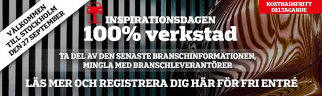 Godkänd Bilverkstad på Inspirationsdagen 100% Verkstad