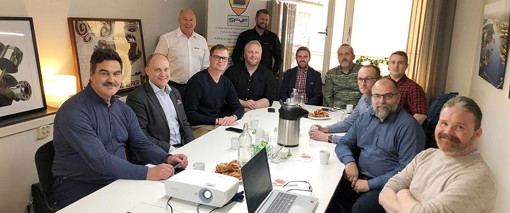 Finbesök från Island hos Sveriges Fordonsverkstäders Förening